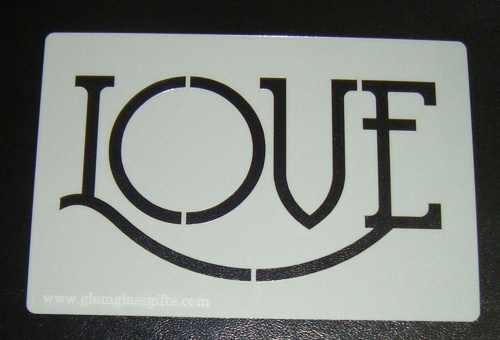 Love Cake Stencil - Design 2