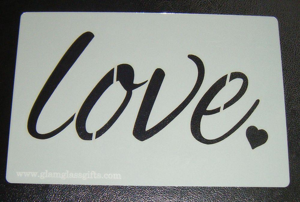 Love Cake Stencil - Design 3 with Heart