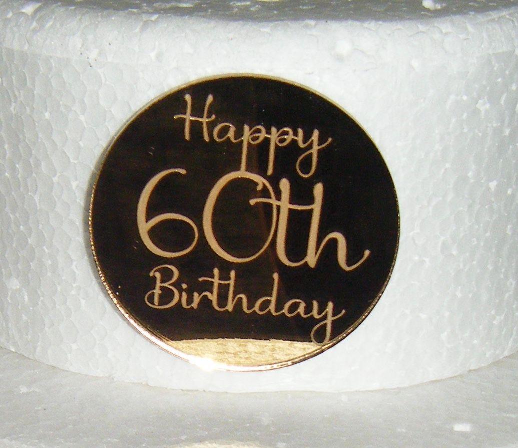 ...Custom Engraved Mini Disc Cake Topper or Cake Embellishement