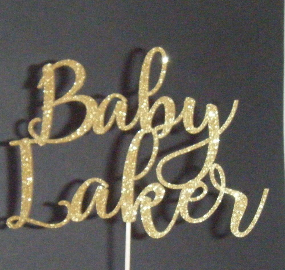 Baby Custom Name Cake Topper