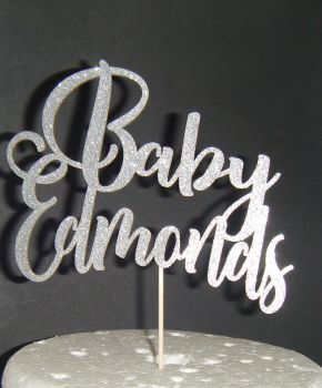 Baby Custom Name Cake Topper 2