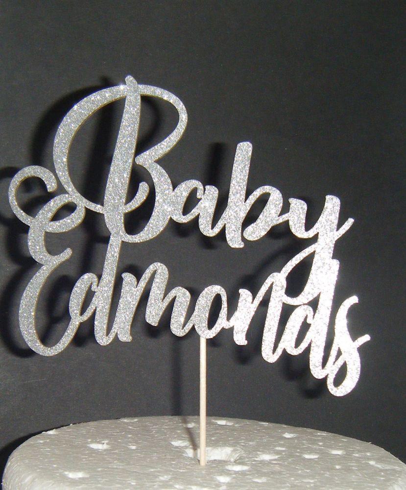 Baby Custom Name Cake Topper 2
