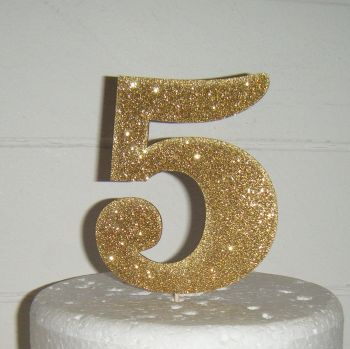 5 Cake Topper (Sold design Exactly as shown)