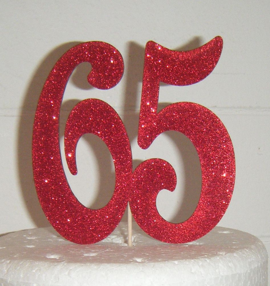 65 Cake Topper  2  Vic(Sold design Exactly as shown)