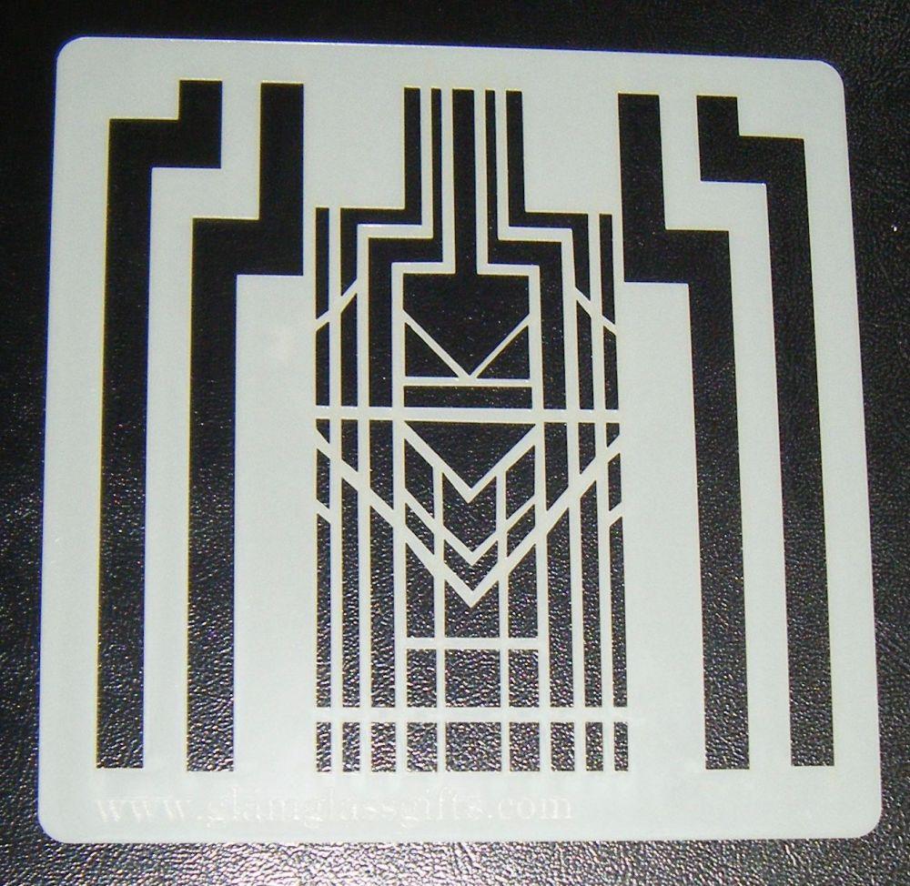 Art Deco Pattern - Cake Decorating Stencil Airbrush Mylar Polyester Film