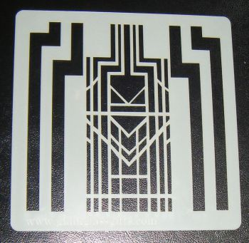 Art Deco Pattern 5 inch Cake Decorating Stencil Airbrush Mylar Polyester Film