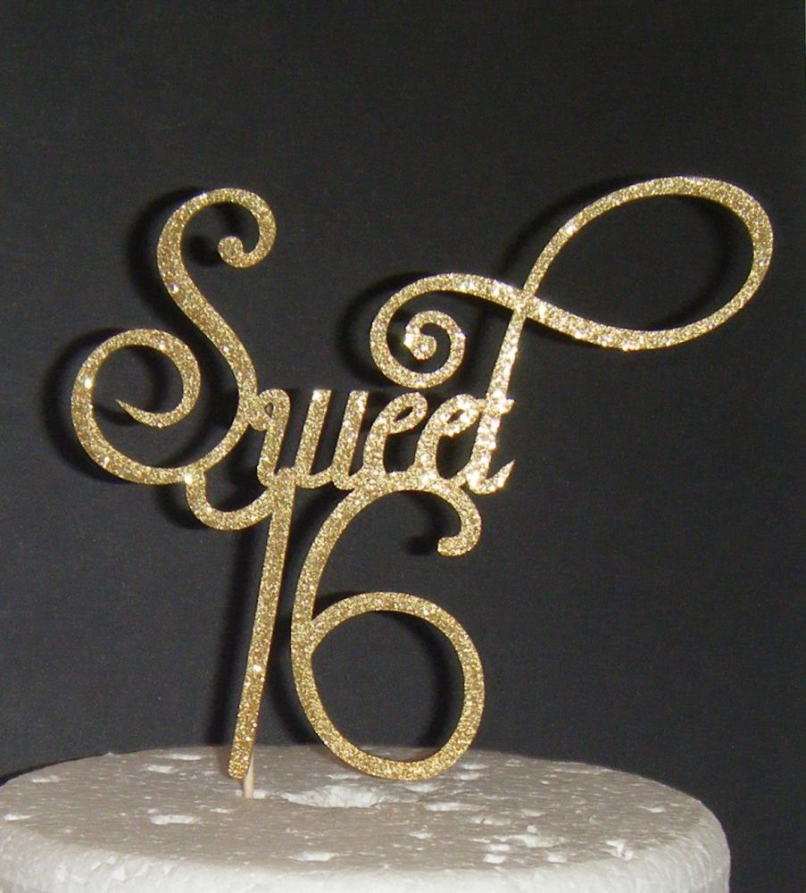 Sweet 16 Cake Topper 4 (Sold design Exactly as shown)