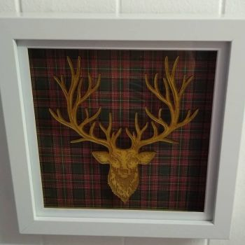 Stag Head Frame - Lasercut and Engraved Design