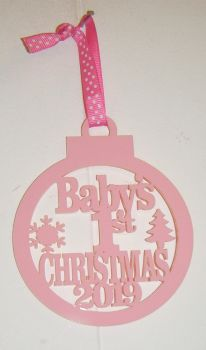 Baby's 1st Christmas 2020 Tree Bauble Decoration