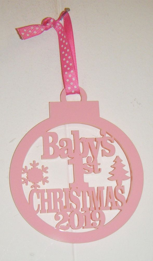 Baby's 1st Christmas 2021 Tree Bauble Decoration