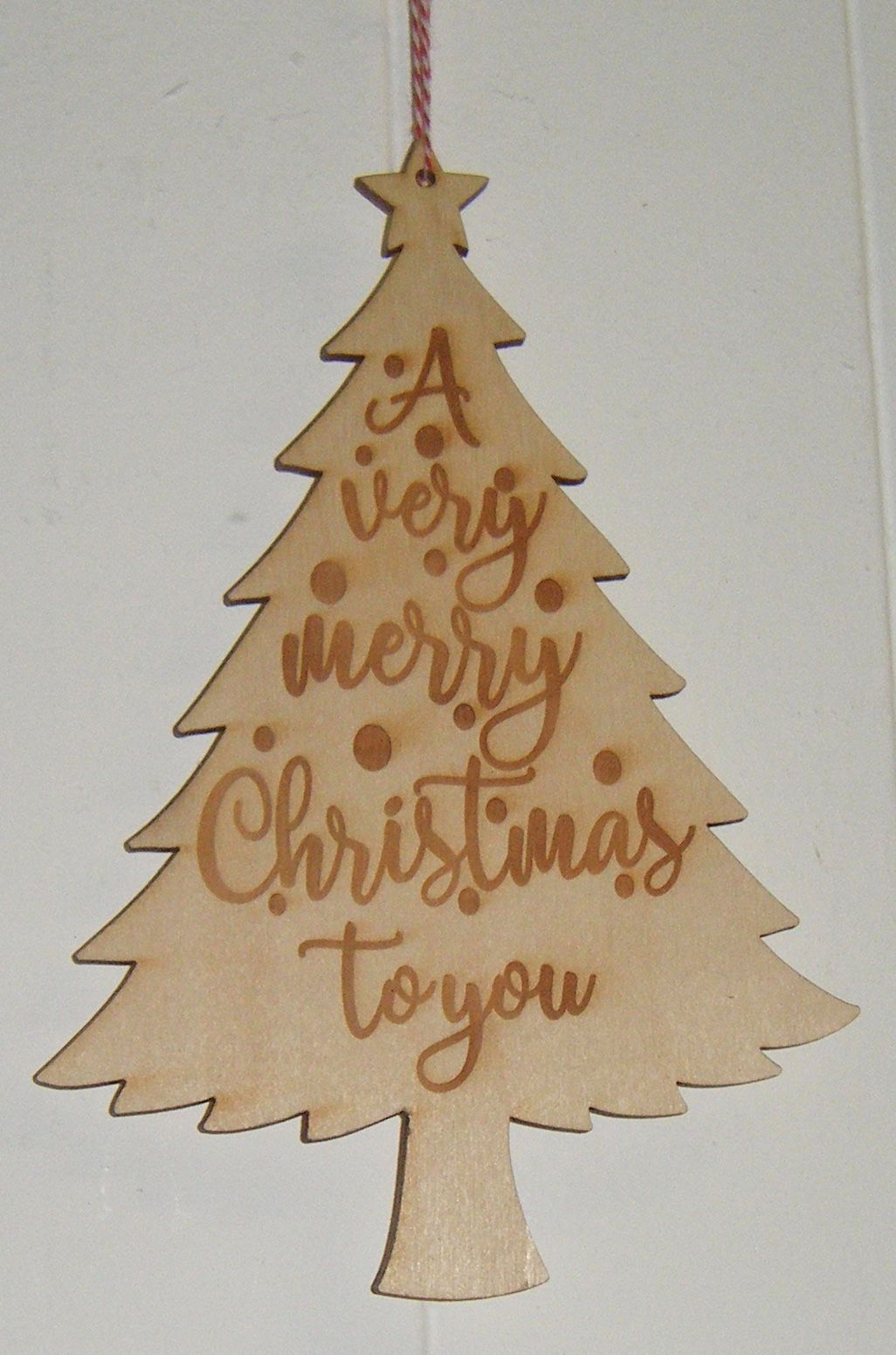 A Very Merry Christmas to You - Wooden Engraved Christmas Tree