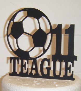 Football Theme Name & Age Topper Custom Made