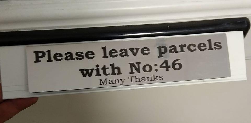 Custom Letterbox Door Sign Plaque