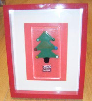 Christmas Tree - NOEL -  Art Glass Picture Frame