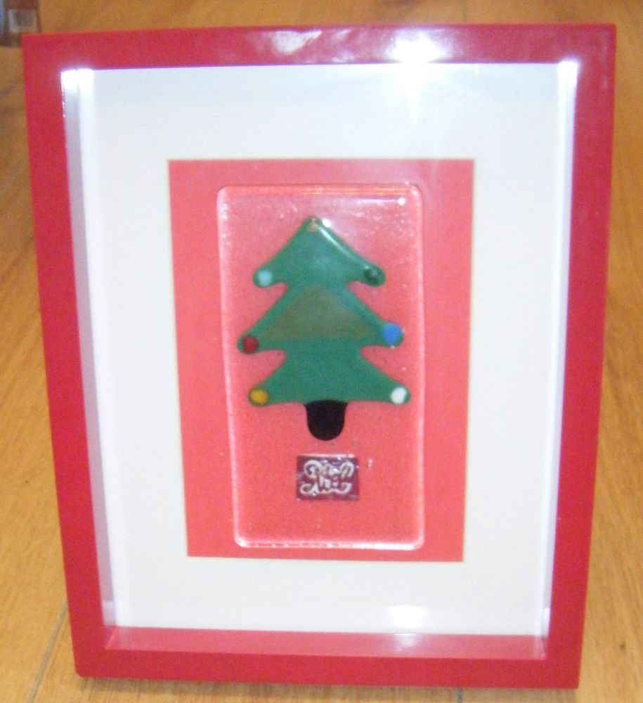 Christmas Tree - NOEL -  Art Glass Picture frame