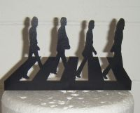Beatles Abbey Road Silhouette Cake Topper