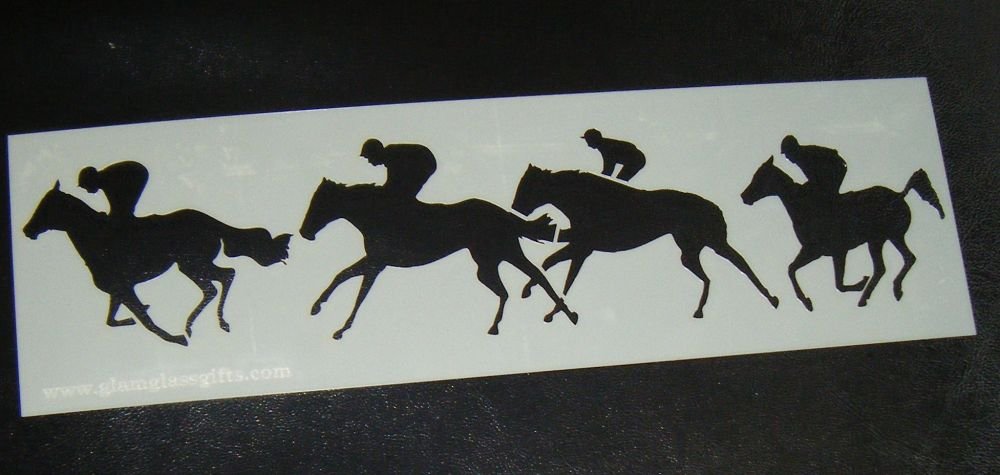 Horse Racing Stencil for Cake or Crafts