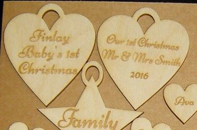 Wooden Heart Gift Tag - Business or Wedding etc