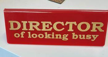 Desk Message Sign - Lasercut Acrylic Custom Order Design