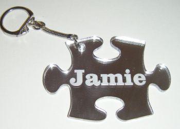 Jigsaw Piece  Keyring  Custom Order