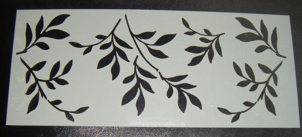 Leaf Larger Design - 5 inch Deep -  Cake Stencil Airbrush Mylar Polyester