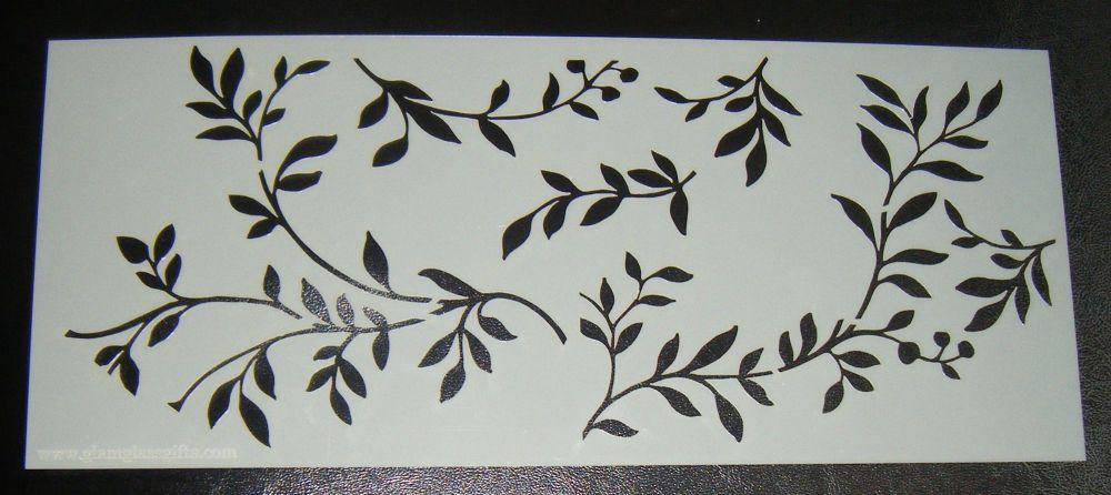 Leaf Design - 5 inch Deep -  Cake Stencil Airbrush Mylar Polyester Film