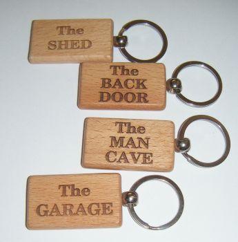 Wooden Keyring  - Custom Order -