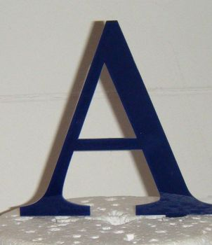 Single Initial Letter Topper - Same font as shown