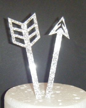 Arrow in 2 Halves Silhouette Cake Topper