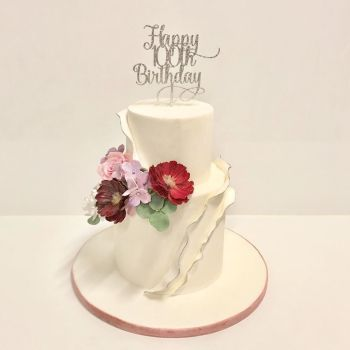 Happy 100th Birthday  or Any Number Cake Topper style