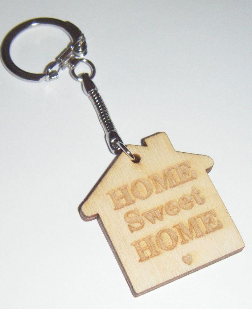 Wooden Keyring  - Custom Order - House Shape