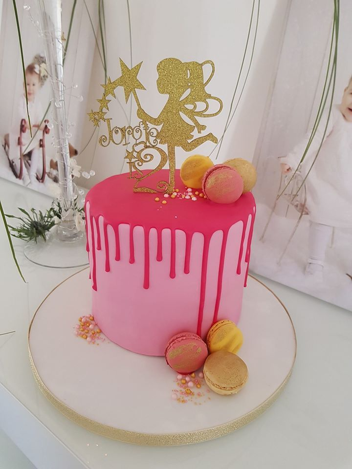 Any Number - Custom Name With Fairy Cake Topper