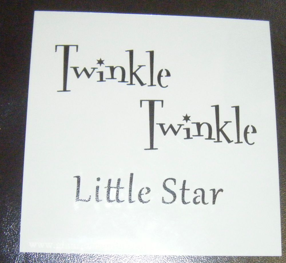 Twinkle Twinkle Little Star Cake or Craft Stencil - 5 inch