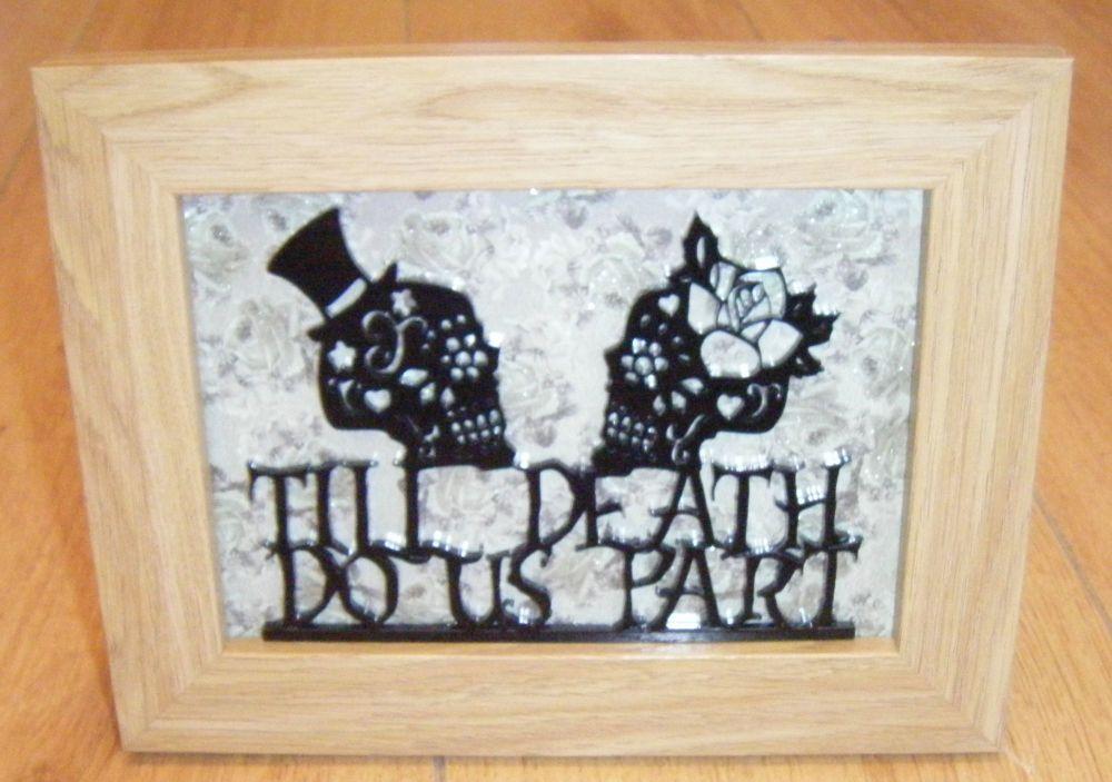 Til Death Do Us Part Sugar Skulls Frame