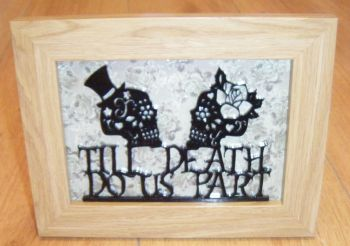 Til Death Do Us Part Sugar Skulls Frame