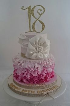 18 Cake Topper 2  (Sold design Exactly as shown)