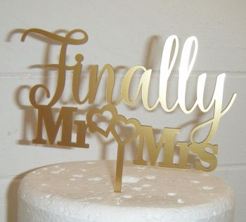 Finally Mr & Mrs Cake Topper 2