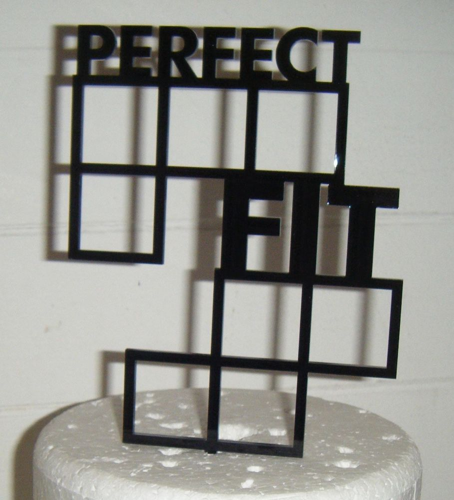 Perfect Fit -  Tetris Shapes -  Silhouette Cake Topper