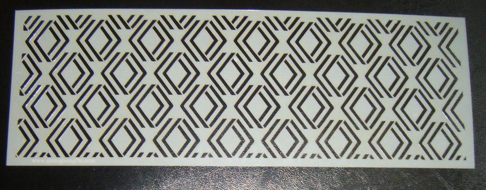 Art Deco Geometric Design 1 Cake Decorating Stencil Polyester Film