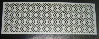 Art Deco Geometric Design 1 Cake Decorating Stencil Polyester Film