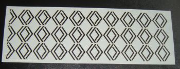 Art Deco Geometric Design 2 Cake Decorating Stencil Polyester Film