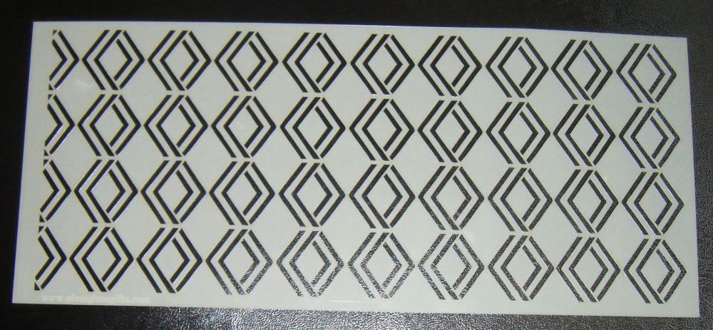 Art Deco Geometric Design 3 Cake Decorating Stencil Polyester Film