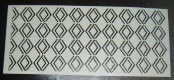 Art Deco Geometric Design 3 Cake Decorating Stencil Polyester Film