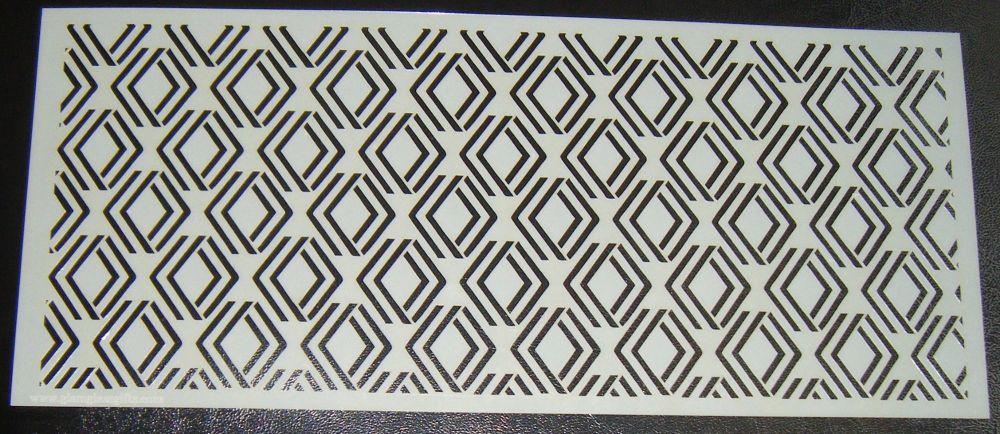 Art Deco Geometric Design 4 Cake Decorating Stencil Polyester Film