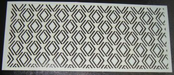 Art Deco Geometric Design 4 Cake Decorating Stencil Polyester Film