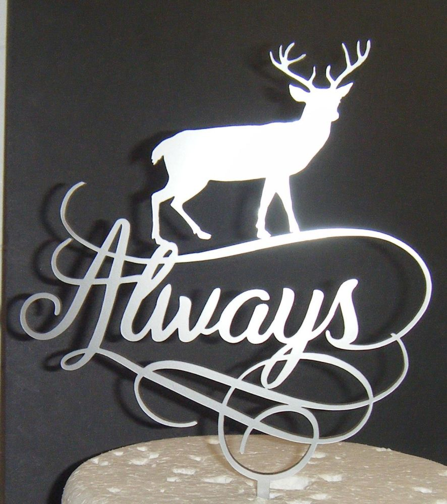 Always with Stag Wedding Cake Topper