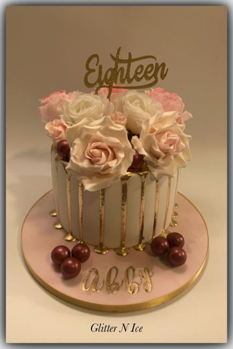 Eighteen Cake Topper 4   (Sold design Exactly as shown)