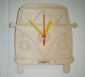 Wooden Large Campervan  Clock