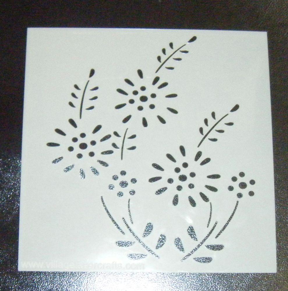 Floral Design Cake or Craft Stencil