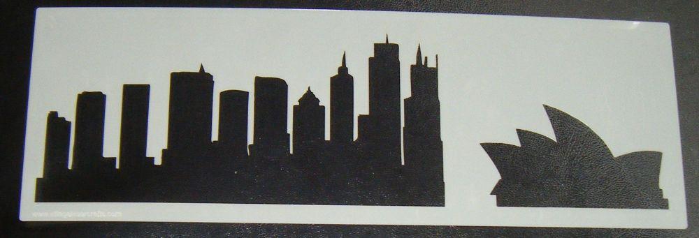 Sidney Oprah House Skyscraper Skyline Cake or Craft Stencil